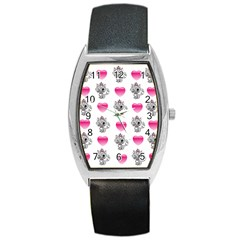 Evil Sweetheart Kitty Barrel Style Metal Watch by IIPhotographyAndDesigns