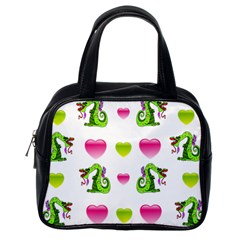 Dragons And Hearts Classic Handbags (one Side) by IIPhotographyAndDesigns
