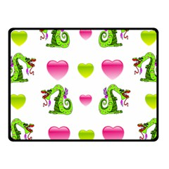 Dragons And Hearts Fleece Blanket (small) by IIPhotographyAndDesigns