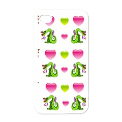 Dragons And Hearts Apple Iphone 4 Case (white) by IIPhotographyAndDesigns