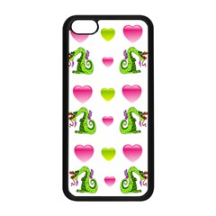 Dragons And Hearts Apple Iphone 5c Seamless Case (black) by IIPhotographyAndDesigns