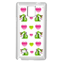 Dragons And Hearts Samsung Galaxy Note 4 Case (white) by IIPhotographyAndDesigns
