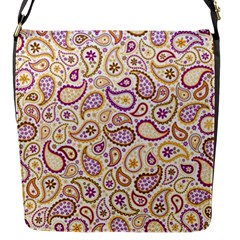 Damascus Image Purple Background Flap Messenger Bag (s) by flipstylezdes