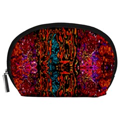 Retro Multi Colors Pattern Created By Flipstylez Designs Accessory Pouches (large)  by flipstylezdes