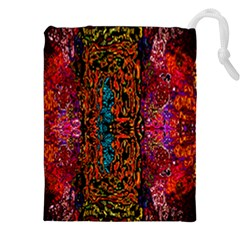Retro Multi Colors Pattern Created By Flipstylez Designs Drawstring Pouches (xxl) by flipstylezdes