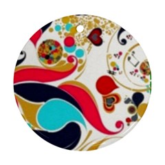 Retro Colorful Colors Splashes Ornament (round) by flipstylezdes