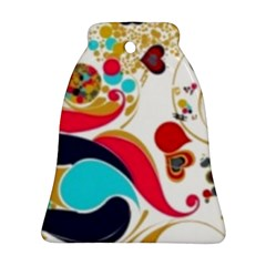 Retro Colorful Colors Splashes Ornament (bell) by flipstylezdes