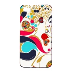 Retro Colorful Colors Splashes Apple Iphone 4/4s Seamless Case (black) by flipstylezdes