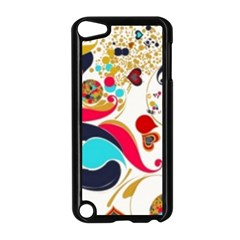 Retro Colorful Colors Splashes Apple Ipod Touch 5 Case (black) by flipstylezdes