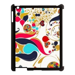 Retro Colorful Colors Splashes Apple Ipad 3/4 Case (black)