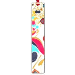 Retro Colorful Colors Splashes Large Book Marks by flipstylezdes