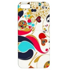 Retro Colorful Colors Splashes Apple Iphone 5 Hardshell Case With Stand by flipstylezdes
