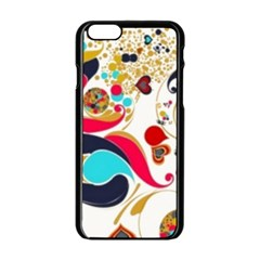 Retro Colorful Colors Splashes Apple Iphone 6/6s Black Enamel Case
