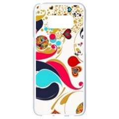 Retro Colorful Colors Splashes Samsung Galaxy S8 White Seamless Case