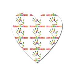 Acts Of Kindness Heart Magnet by DaKindSigningPuppets