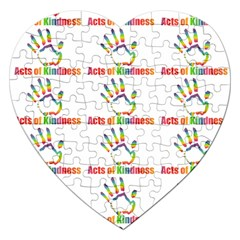 Acts Of Kindness Jigsaw Puzzle (heart) by DaKindSigningPuppets