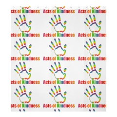 Acts Of Kindness Shower Curtain 66  X 72  (large)  by DaKindSigningPuppets