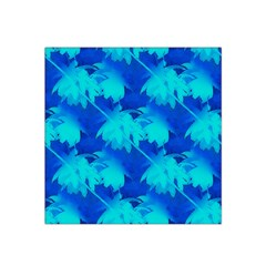 Coconut Palm Trees Ocean Blue Satin Bandana Scarf by CrypticFragmentsColors