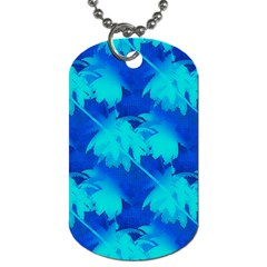 Coconut Palm Trees Ocean Blue Dog Tag (two Sides) by CrypticFragmentsColors