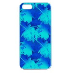 Coconut Palm Trees Ocean Blue Apple Seamless Iphone 5 Case (color) by CrypticFragmentsColors