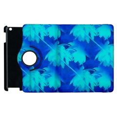 Coconut Palm Trees Ocean Blue Apple Ipad 3/4 Flip 360 Case by CrypticFragmentsColors