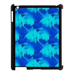 Coconut Palm Trees Ocean Blue Apple Ipad 3/4 Case (black) by CrypticFragmentsColors