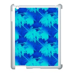Coconut Palm Trees Ocean Blue Apple Ipad 3/4 Case (white) by CrypticFragmentsColors