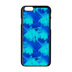 Coconut Palm Trees Ocean Blue Apple Iphone 6/6s Black Enamel Case by CrypticFragmentsColors