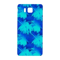 Coconut Palm Trees Ocean Blue Samsung Galaxy Alpha Hardshell Back Case by CrypticFragmentsColors