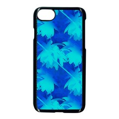 Coconut Palm Trees Ocean Blue Apple Iphone 8 Seamless Case (black) by CrypticFragmentsColors