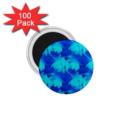 Coconut Palm Trees Ocean Blue 1 75  Magnets (100 Pack)  by CrypticFragmentsColors