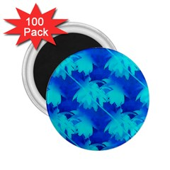 Coconut Palm Trees Ocean Blue 2 25  Magnets (100 Pack)  by CrypticFragmentsColors