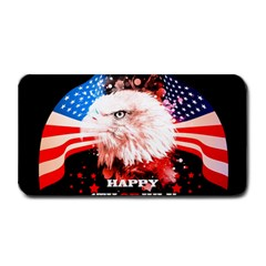Independence Day, Eagle With Usa Flag Medium Bar Mats by FantasyWorld7