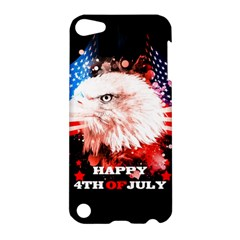 Independence Day, Eagle With Usa Flag Apple Ipod Touch 5 Hardshell Case by FantasyWorld7