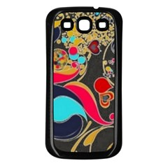 Retro Swirls In Black Samsung Galaxy S3 Back Case (black)