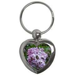 Lilac Bumble Bee Key Chains (heart)  by IIPhotographyAndDesigns
