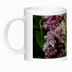 Lilac Bumble Bee Night Luminous Mugs by IIPhotographyAndDesigns