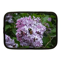 Lilac Bumble Bee Netbook Case (medium)  by IIPhotographyAndDesigns