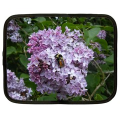 Lilac Bumble Bee Netbook Case (xxl)  by IIPhotographyAndDesigns