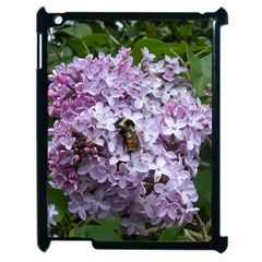 Lilac Bumble Bee Apple Ipad 2 Case (black) by IIPhotographyAndDesigns