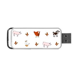 Farm Animals Portable Usb Flash (two Sides)