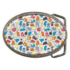 Funny Cute Colorful Cats Pattern Belt Buckles by EDDArt