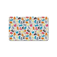 Funny Cute Colorful Cats Pattern Magnet (name Card)