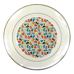 Funny Cute Colorful Cats Pattern Porcelain Plates