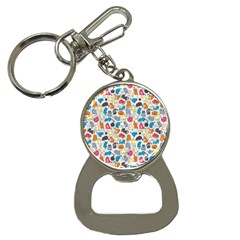 Funny Cute Colorful Cats Pattern Bottle Opener Key Chains by EDDArt