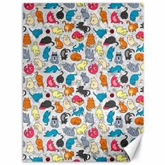 Funny Cute Colorful Cats Pattern Canvas 36  X 48   by EDDArt