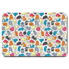 Funny Cute Colorful Cats Pattern Large Doormat