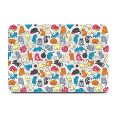 Funny Cute Colorful Cats Pattern Plate Mats by EDDArt
