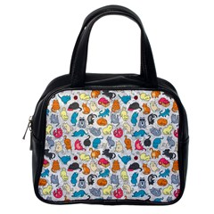 Funny Cute Colorful Cats Pattern Classic Handbags (one Side) by EDDArt