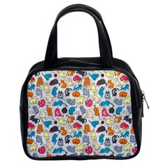Funny Cute Colorful Cats Pattern Classic Handbags (2 Sides) by EDDArt